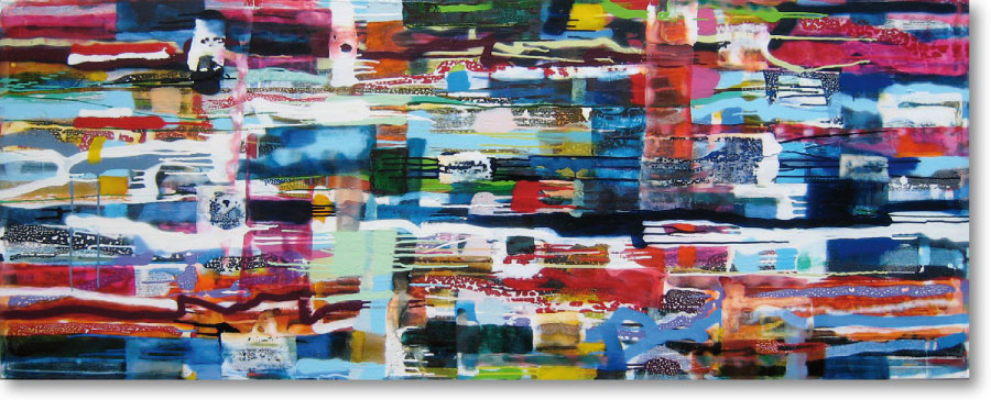 Clearwater XVII, 2011, mixed media/canvas, 80cm x 200cm