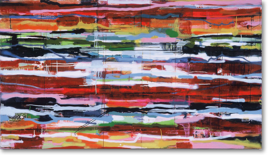 Clearwater VII, 2004, mixed media/canvas, 135cm x 240cm
