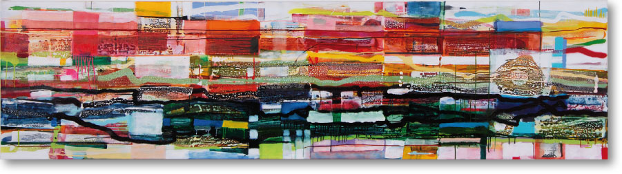 Clearwater VIII, 2009, mixed media/canvas, 300cm x 80cm