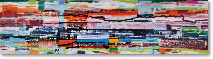 Clearwater VIV, 2009, mixed media/canvas, 300cm x 80cm