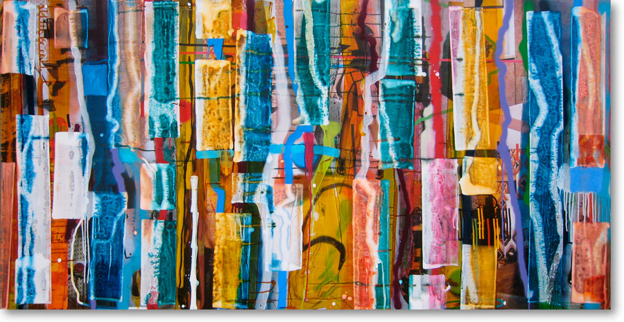Clearwater XXI, 2011, mixed media/canvas, 100cm x 200cm