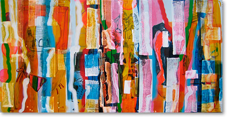 Clearwater XXII, 2011, mixed media/canvas, 100cm x 200cm