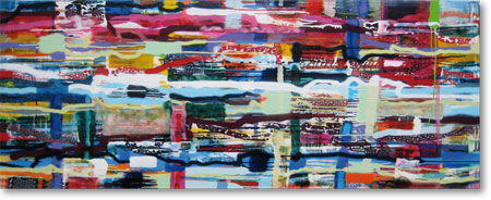 Clearwater XVI, 2011, mixed media/canvas, 80cm x 200cm